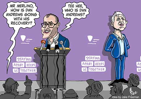 James Merlino colour editorial cartoon